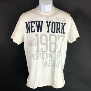 Aeropostale Men's White T-shirt L